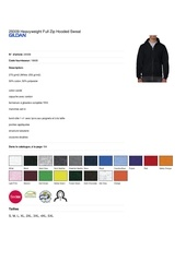 29309 heavyweight full zip hooded sweat