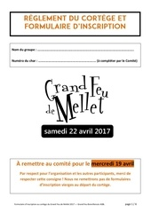 grand feu mellet 2017 inscription au cortege