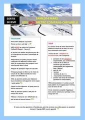 sortie ski emf 2017 programme