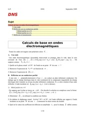 coefficients de reflexion et de transmission