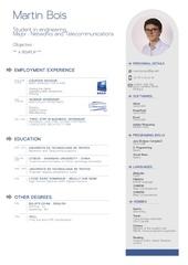 Fichier PDF cv design anglais