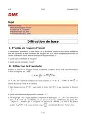 diffraction de base