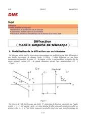 diffraction et effets turbulence pour telescope