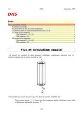 flux et circulations pour un coaxial