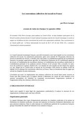 Fichier PDF les conventions collectives de travail en france