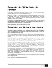 Fichier PDF articles Evacuations