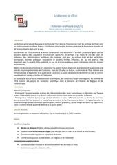 vacature agr patrimoine wallon 2017