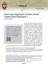 cadre legal de la lutte armee catheline remy