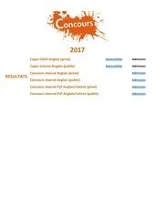 concours 2017 resultats 0