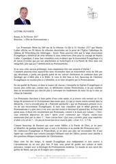 pasteur daniel vindigni lettre ouverte 1
