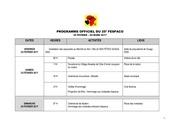 programme officiel 17