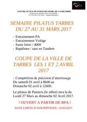 semaine pilatus tarbes du 27 au 31 mars 2017