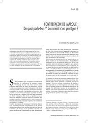 Fichier PDF contrefacon de marque