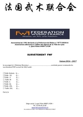 bulletin de commande survetement fwf