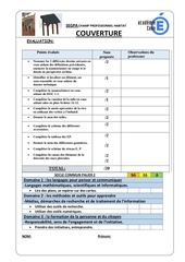 fiche evaluation analyse projet couverture