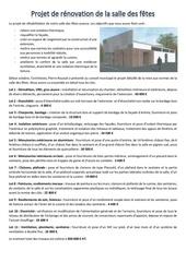 7 projet de renovation de la salle des fetes