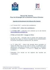 calendrier bourse wu jianmin