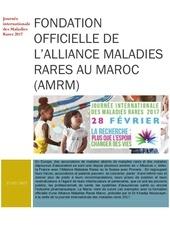 fondation d une alliance maladies rares au maroc
