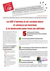 la cgt s oppose a cet accord et appelle