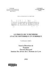 le proces de nuremberg analyse historique et juridique