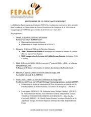 programme de la fepaci au fespaco 2017 3