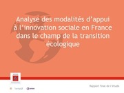 accompagner l innovation sociale rapport public