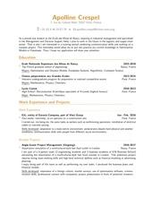 cv crespel internship