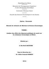 Fichier PDF depense sante et croissance au benin