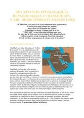 la pedagogie sathya sai a abu dhabi emirats arabes unis