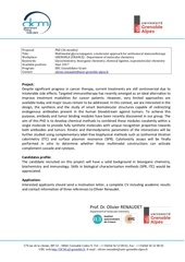 phd position in glycochemistry grenoble