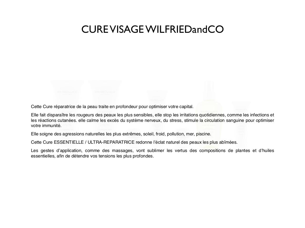 2 _Les cures WILFRIEDandCO_ ULTRA-REPARATRICE VISAGE.pdf - page 2/18