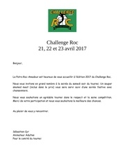 challenge roc invitation 2017