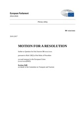 draft tran resolution transport routier ue 012017