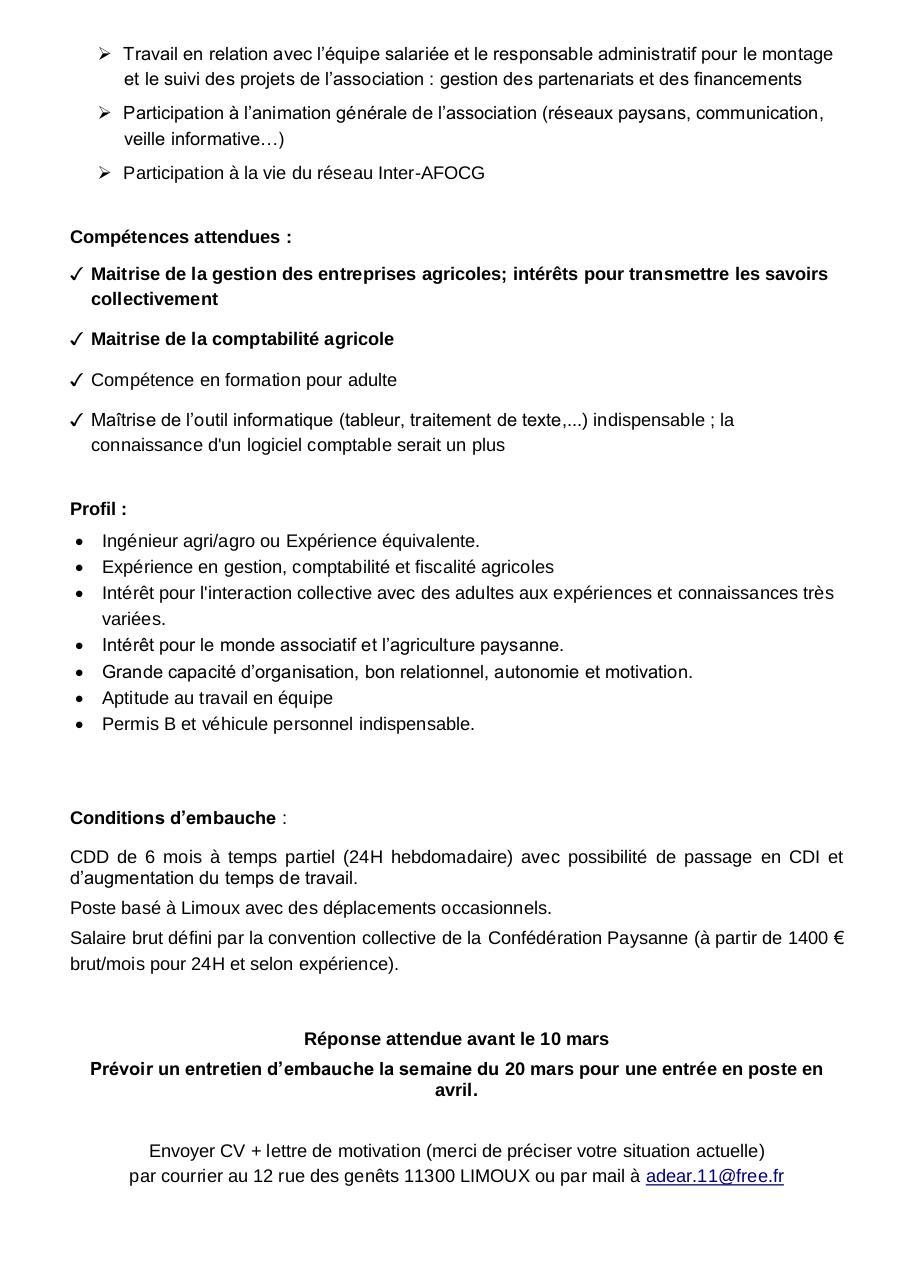 Offre Formateur Compta Gestion 27 02 17 Par Adear 11 Adear