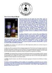 Fichier PDF fiche de degustation new grove royal blend