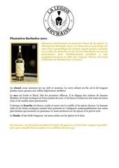 fiche de degustation plantation barbados 2001
