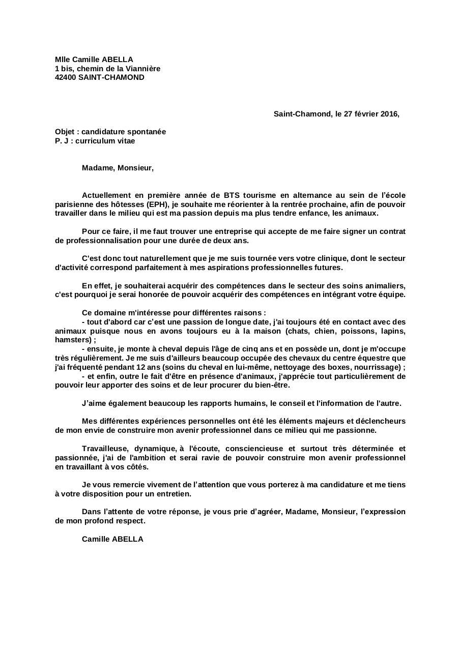 Lettre De Motivation Copie Par Abella Camille Fichier Pdf