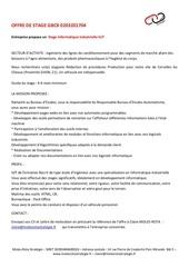 offre stage mrsie gb cx 0203201704
