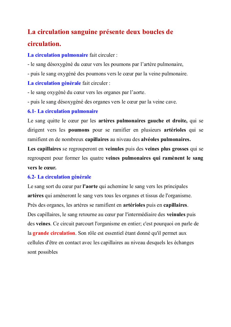 Aperçu du document suite  la circulation sanguine .pdf - page 1/2