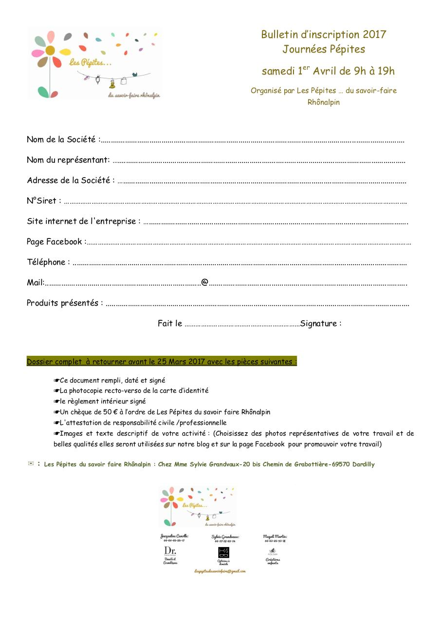 Aperçu du document Bulletin d'inscription Journées Pépites 1er Avril 2017.pdf - page 1/1