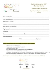 bulletin d inscription journees pepites 20 mai 2017