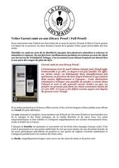 fiche de degustation caroni 1996 20 ans