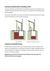 latrines ameliorees ventilees