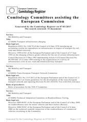 liste comites transport