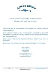 Fichier PDF liste de naissance clara et math