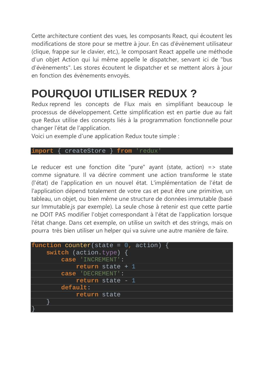 react redux tutoriel 1 par dossou - Fichier PDF