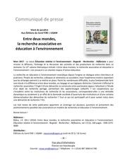 communique presse sommaire vol 13 1
