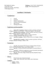 cv veterianire pdf