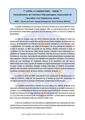 Fichier PDF offre these tropisme avec virus final