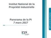 panorama de la propriete industrielle mars 2017